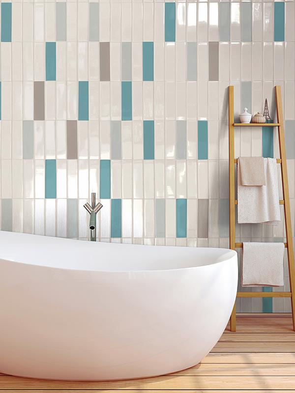 Piastrelle bagno azzurre e bianche stunning cesi bagno setx sito homet with piastrelle bagno - Piastrelle rosse lucide ...